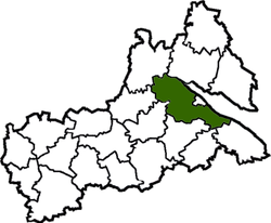 Location of Čerkasu rajons
