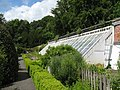 Chesters Walled Garden - greenhouse and main herb bed (2) - geograph.org.uk - 1461099.jpg