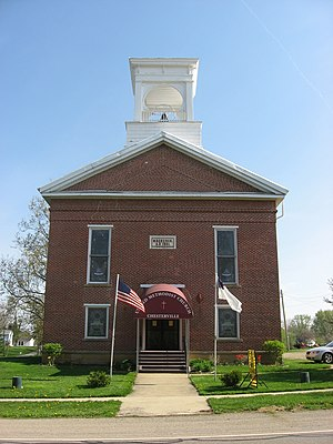 National Register of Historic Places listings in Morrow County, Ohio - Image: Chesterville Methodist Church