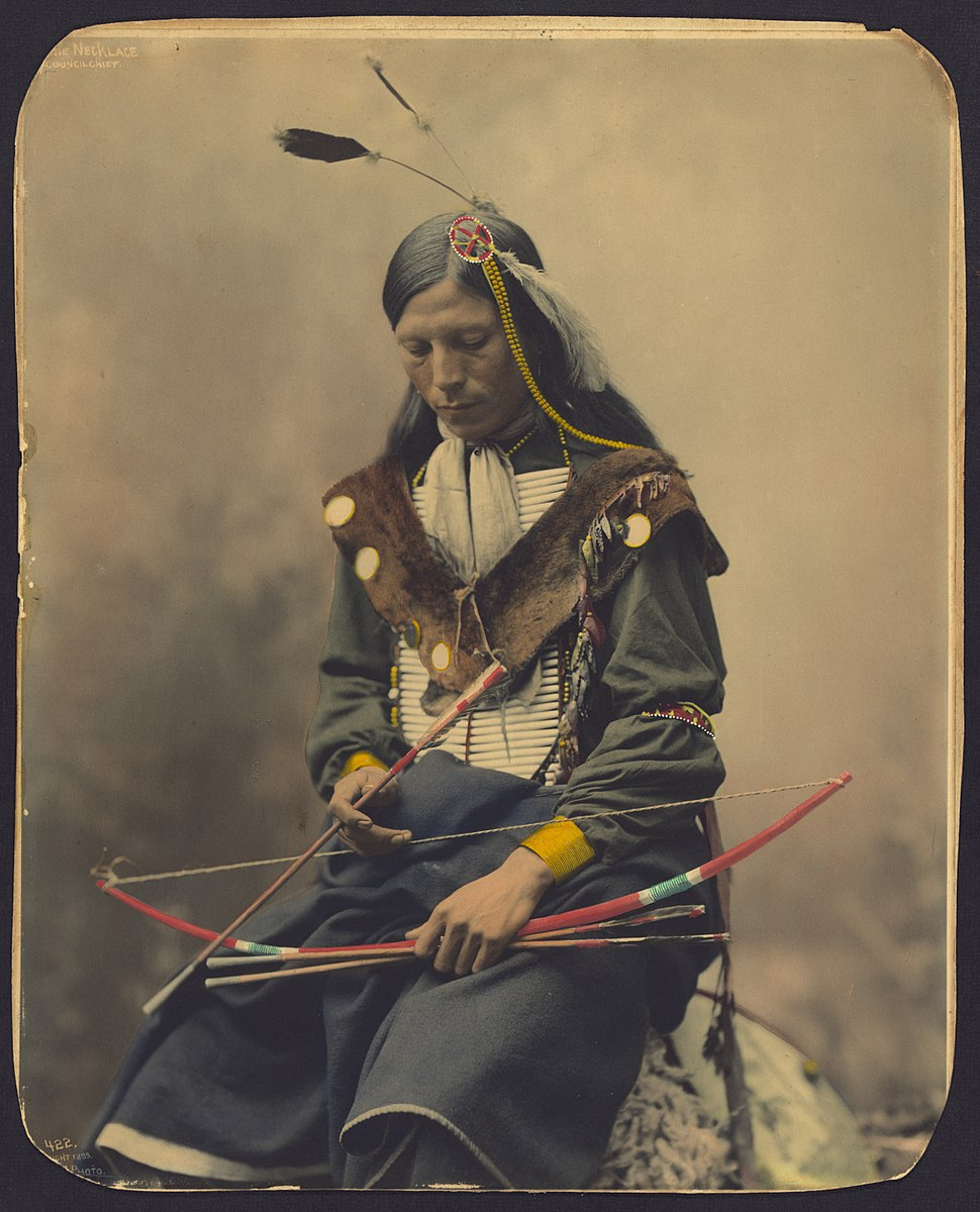 Chief Bone Necklace-Oglala Lakota-1899 Heyn Photo