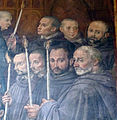 Chiesa abbaziale di s. michele a passignano, int., cappella di s.g. gualberto, affr. di alessandro allori 05.JPG