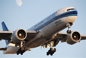Air route authority between the United States and China - China Southern used to operate Boeing 777 aircraft on flights between Guangzhou and Los Angeles until October 2012