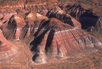 «Дурные земли» Чинле, национальный памятник Гранд-Стеркейз-Эскаланте, Юта