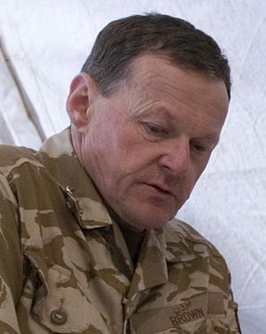 Chris Brown (British Army officer) - Brown in 2009