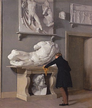 Christen Købke -  The View of the Plaster Cast Collection at Charlottenborg Palace