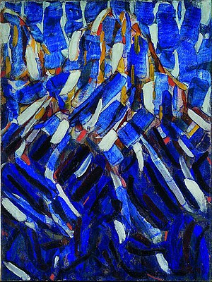 Christian Rohlfs - Abstraction (the Blue Mountain)