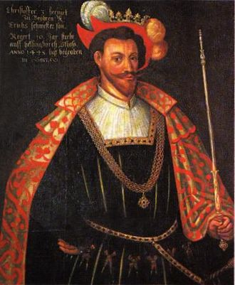 Christopher of Bavaria - 16th-century painting which has been questioned as a real portrait of Christopher.