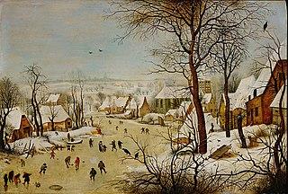 Winter Landscape with a Bird Trap