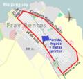 Circuito en Fray Bentos para carreras de ciclismo organizadas por el Centenario Fútbol Club.png