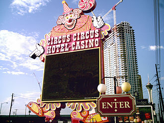 Circus Circus Las Vegas - Lucky The Clown sign in 2007