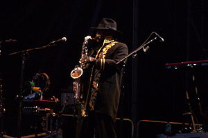 English: Clarence Clemons... Big Man!!! Perfor...