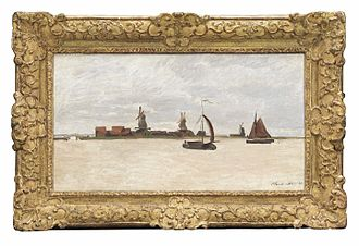 Zaans Museum - Claude Monet, De Voorzaan en de Westerhem, 1871 (collection Zaans Museum)