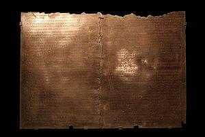 Lyon Tablet - Lyon Tablet, in Gallo-Roman museum, Lyon