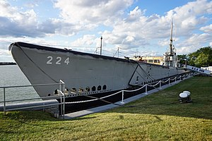 USS Cod - USS Cod moored at its permanent location in Cleveland's North Coast Harbor.