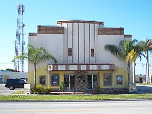 National Register of Historic Places listings in Hendry County, Florida - Image: Clewiston FL Dixie Crystal Theatre 01
