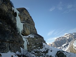 Cliff with snow - Shahdag National Park.jpg