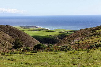 Coast Dairies State Park - View of Coast Dairies near Santa Cruz. This is the farmland bought by the BLM in 2014.