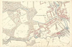 Coatbridge - Map of the Coatbridge area dated 1858