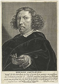 Coenraet Waumans - Portrait of the painter Herman Saftleven.jpg