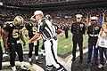 Coin toss at Saints Military Appreciation Game 2009-11-02 3.JPG