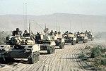 Column of modified M551s crossing desert during National Training Center exercise c1986 DA-ST-88-04062.jpg