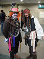 Comikaze Expo 2011 - Mad Hatter and Captain Jack Sparrow (6324613015).jpg