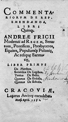 Andrzej Frycz Modrzewski – Wikipedia, wolna encyklopedia