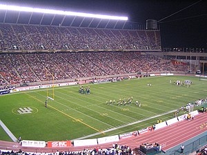 Sport in Canada - An Edmonton Eskimos football game at Commonwealth Stadium.