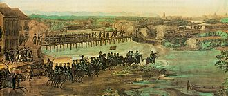 Confederation of the Equator - The Brazilian Army fighting the Confederate troops in Recife, capital of Pernambuco, 1824.