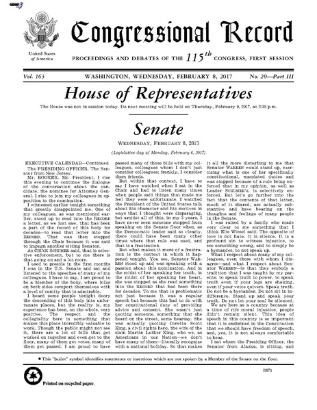 File:Congressional Record - 2017-02-06 (Book 3) pdf