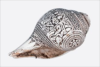 Shankha - A shankha carved