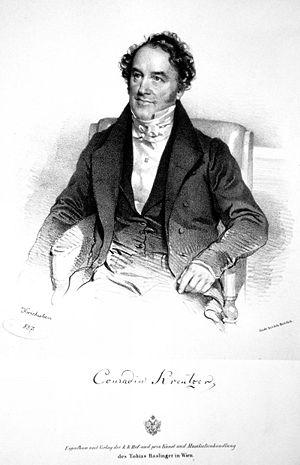 Conradin Kreutzer - Lithograph by Joseph Kriehuber, 1837