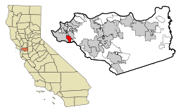 Contra Costa County California Incorporated and Unincorporated areas El Cerrito Highlighted.svg