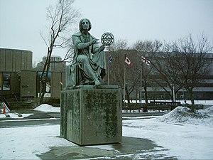 Montreal Planetarium - Statue of Nicolaus Copernicus.