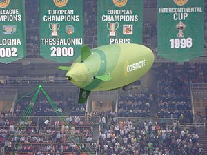 Cosmote - Blimp of COSMOTE in the O.A.C.A. Olympic Indoor Hall