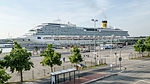 Costa Pacifica in Harbour of Kiel (Ostseekai).jpg
