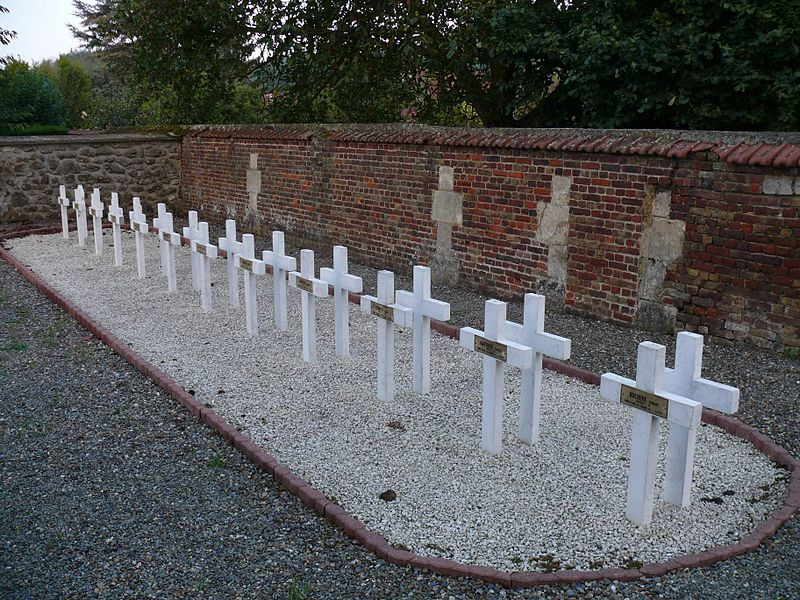 Cemetary of Coudun (Oise, Picardie, France).