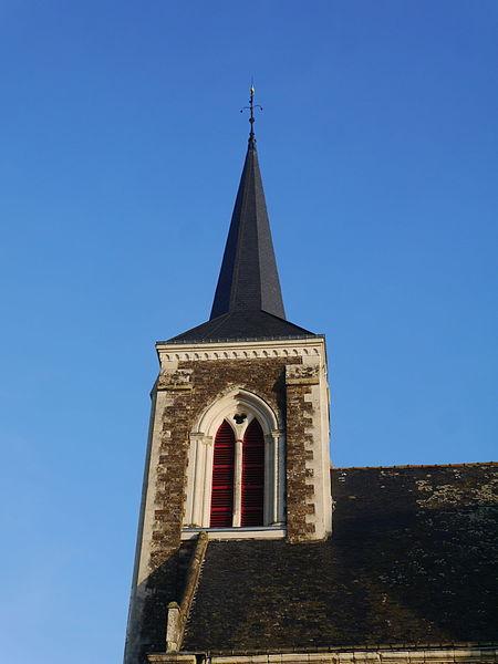 Le clocher de l'église Saint-Sulpice.