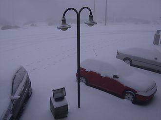 Covilhã - Blizzard in Penhas da Saúde, January 2007.