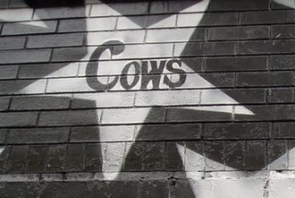 Cows (band) - The band's star painted on the side of the First Avenue in Minneapolis