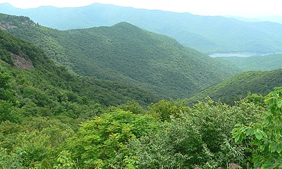 The view from Craggy Gardens on the Blue Ridge Parkway.