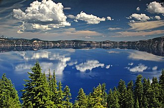 Mount Mazama - Crater Lake, formed in the caldera from Mazama's collapse