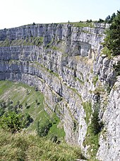 Inward-curving cliff of the Creux du Van