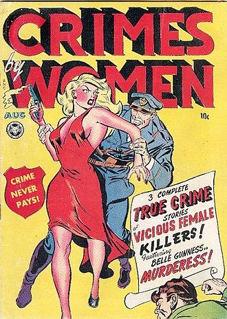 Crime comics - Crimes by Women, Aug 1948
