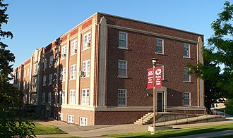 Chadron State College - Crites Hall, one of the buildings listed on the National Register of Historic Places