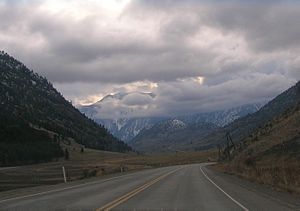 Crowsnest Highway - Through the Similkameen Valley westwards into the mountains