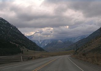 British Columbia Highway 3 - Through the Similkameen Valley westwards into the mountains
