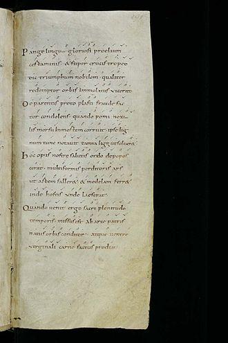 Pange lingua gloriosi proelium certaminis - Cantatorium, X° siècle
