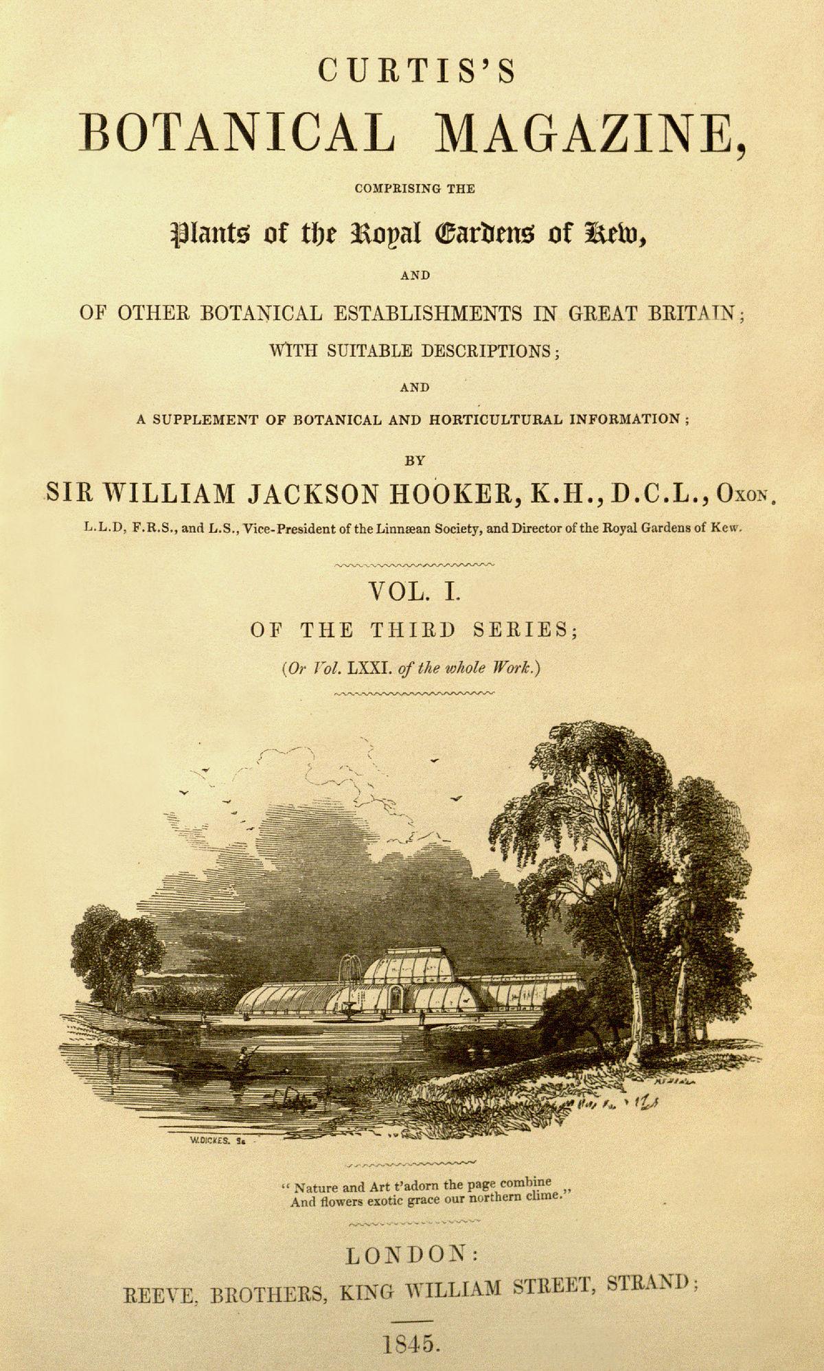 Curtis S Botanical Magazine Wikipedia