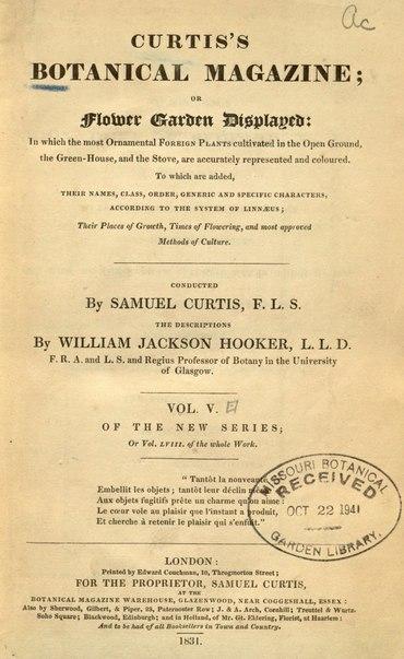 File:Curtis's Botanical Magazine, Volume 58 (1831).djvu